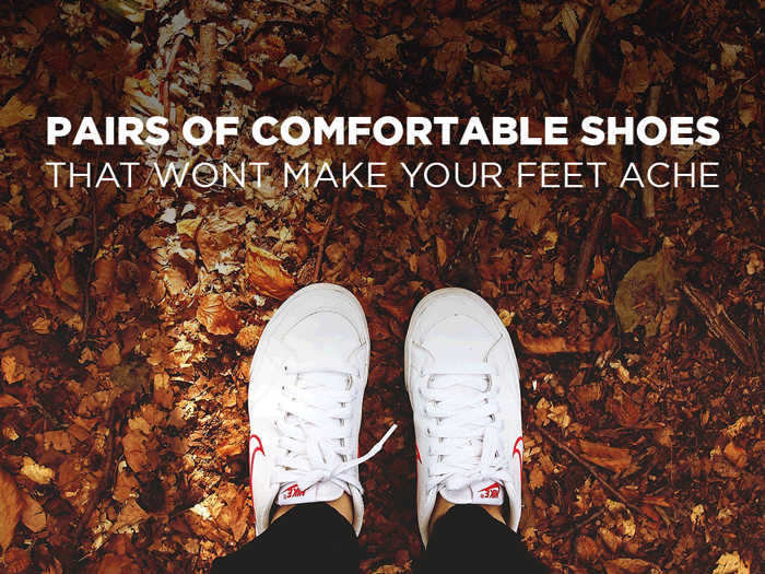 Pair of Comfortable Shoes That Wont Make Your Feet Ache