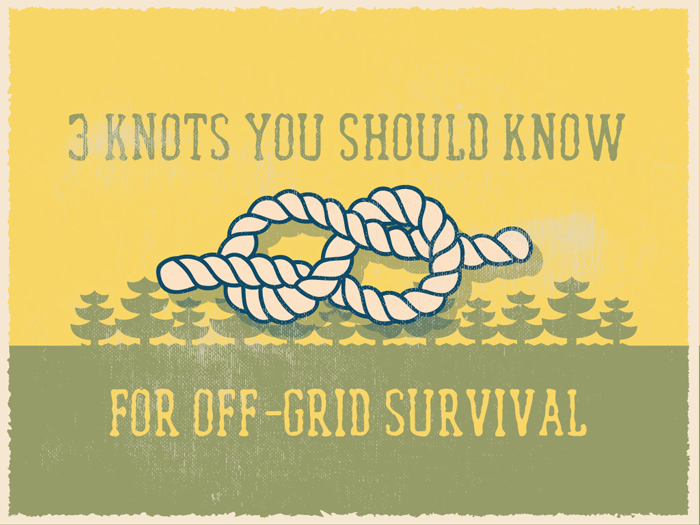 cover knots for Off-Grid Survival