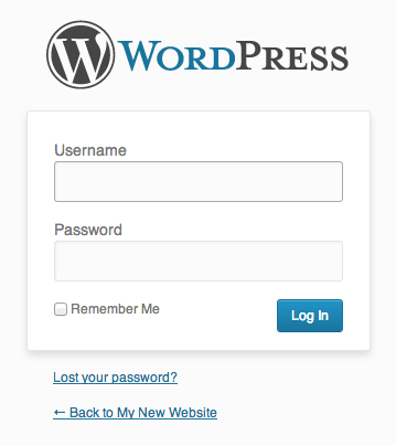 wordpress signin